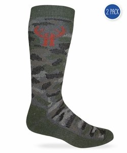 20877 Huntworth Camo Wool Blend Boot Sock 2 Pair Pack