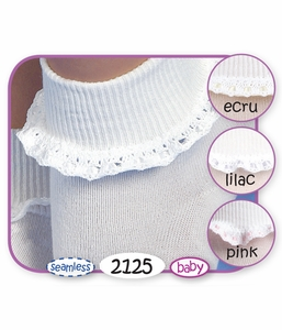Girls : Cluny and Satin Lace Socks