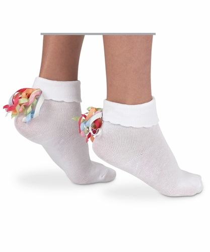 Girls : Curly Q Socks