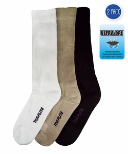 2565 Top Flite Diabetic Non-Binding Cushion Crew Ultra Dri Socks 2 Pair Pack