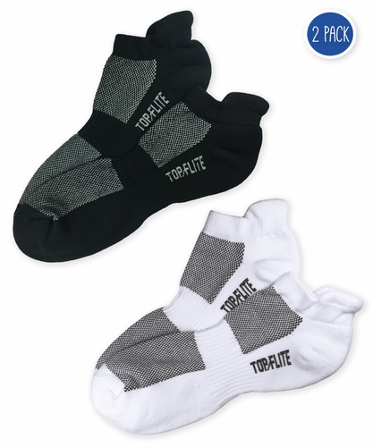 2566 Top Flite Sport Tab Low Cut Half Cushion Socks 2 Pair Pack