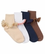 Girls : Twisted Trim Turn Cuff Socks