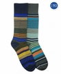 2705 Top Flite Pattern Stripe Crew Socks 2 Pair Pack