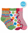 2773 Chevron/Dots/Stripe Crew 3 Pair Pack