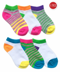 2784 Multi Stripe Low Cut 6 Pair Pack