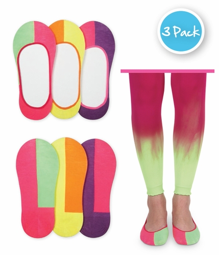 2788 Split Footie Socks 3 Pair Pack