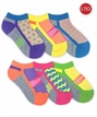 2811 Girl Sporty Half Cushion Low Cut 6 Pair Pack