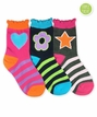 2813 Multi Girl Crew Grey/Navy/Pink Triple Treat 3 Pair Pack