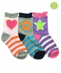 2814 Multi Girl Crew Pink/Purple/Grey Triple Treat 3 Pair Pack