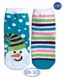 2891 Snowman Fuzzy Slipper Sock 2 Pair Pack