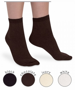 Womens : Pima Cotton Flat Knit Anklet Socks