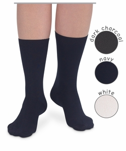 Womens : Microfiber Flat Knit Crew Socks