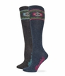 29678 Wrangler Ladies Angora Aztec Boot Sock 2 Pair Pack