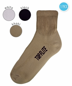 3421 Top Flite Sport Full Cushion Quarter Socks 3 Pair Pack