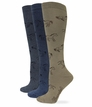 39413 Wrangler Ladies Horse Boot Sock 3 Pair Pack