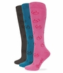 39430 Wrangler Ladies Rayon Horse Shoe Boot Sock 3 Pair Pack