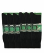 5202 Top Flite Black Pattern Crew Dress Sock Assorted 6 Pair Pack