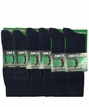 5202 Top Flite Navy Pattern Crew Dress Sock Assorted 6 Pair Pack