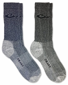 72052 Drake Men's Moisture Wicking Ultra-Dri Boot Socks 2 Pair Pack