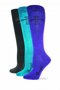 9407 Ladies Wrangler Rayon Cross Knee High
