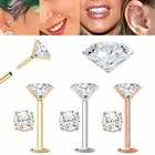 DIAMOND Cartilage, Tragus, Helix, Monroe, Nose Stud / Earring - Flat Back Push-In