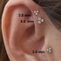 DIAMOND Trinity Push-In Stud - Cartilage, Tragus, Helix, Nose