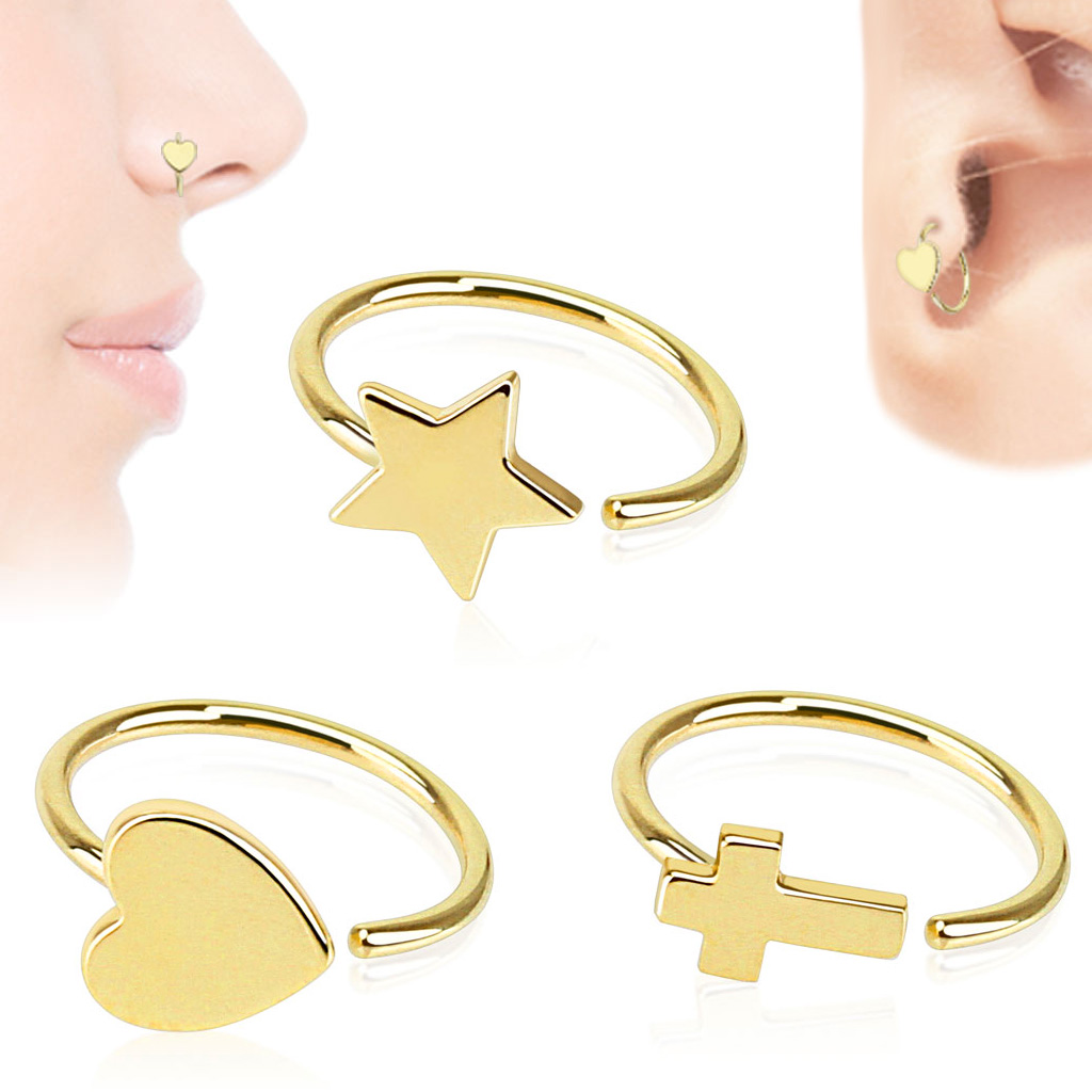 14k Gold Hoop Ring For Nose Cartilage Helix Daith Tragus