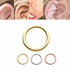 14K Gold Seamless Hoop Ring for Nose, Cartilage, Daith, Tragus, Septum