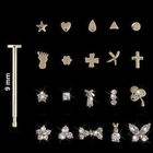 14K Italian Gold Nose Pin Collection
