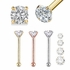 Genuine DIAMOND Nose Stud (Bone Type, Low-Profile)
