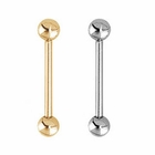 14K Solid Gold Straight Barbell