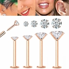 14K Solid Rose Gold 16 Gauge Cartilage / Monroe / Helix / Tragus Earring - Easy Snap-In