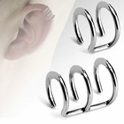 "316L Fake Cartilage ""Clip-On"" Closure Ring"