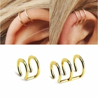 316L Wear-Resistant Gold IP Cartilage, Helix Clip-On Cuff