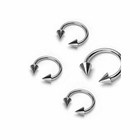 316L Spike Horseshoe Ring (16G and 18G)