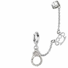 316L Stainless Steel Chain Earring w/ Cuff - Brass Knuckle