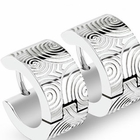 316L Stainless Steel Huggie Earring - Spirals