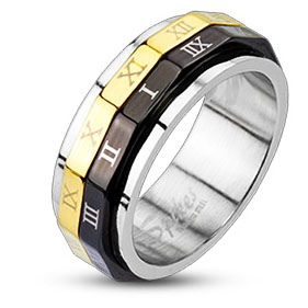 316L Stainless Steel Ring - Dual Spinner
