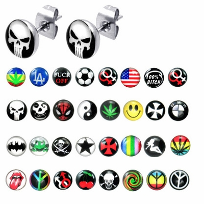 316L Surgical Steel Logo Stud Earring