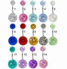 360 Double Crystal Belly Button Ring by Ferido
