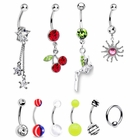 10 PCS Fancy Dangle Belly Button Rings Bonus Package