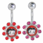 Betty Boop Classic Jeweled Belly Button Ring