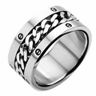 Carved 316L Stainless Steel Ring - Tribal