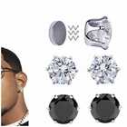 (DISCONTINUED) 6mm Crown Prong-Setting CZ Magnetic Stud Earrings