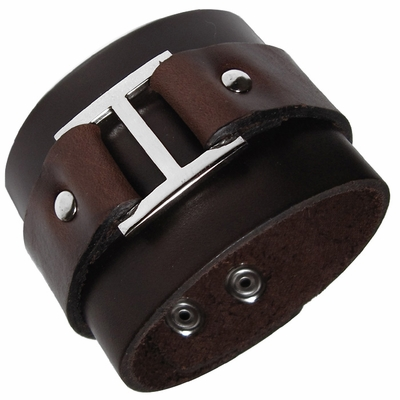 Dark Brown Italian Leather Cuff (OUT OF STOCK)