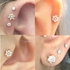 DIAMOND Flower Push-In Stud for Cartilage, Lip, Nose (VS, 0.11 ct)