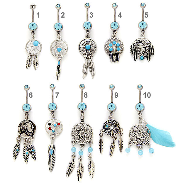 Dream Catcher Belly Button Rings Dreamcatcher Belly Button Ring Collection 25