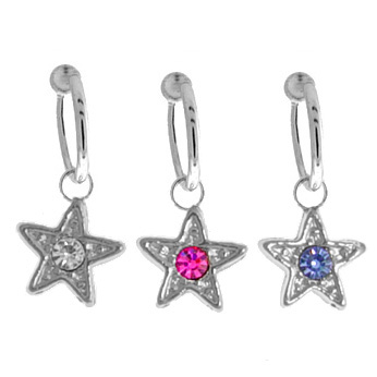 Fake Dangling Belly Button Ring Star