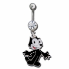 Felix the Cat Belly Button Ring (OUT OF STOCK)