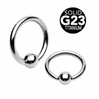 G23 Solid Titanium Ball Closure Ring